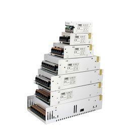 Wholesale Led 12 Volt Lights Strips - MJJC 12W 24W 60W 100W 120W 150W 200W 360W 400W Switching LED Power Supply 12 volt 24V DC for 3528 5050 5630 3014 7020 LED Strip Lights