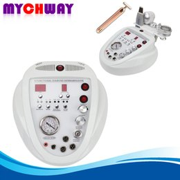Wholesale Diamond Microdermabrasion 5in1 - 5in1 Diamond Microdermabrasion Dermabrasion Photon Scrub Wrinkle Removal Sunburn Curing Machine +24K Facial Massage Platinum Pulse Roller