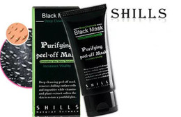 Wholesale Hot Facial Mask - HOT SHILLS Deep Cleansing Black Mask Pore Cleaner 50ml Purifying Peel-off Mask Blackhead Facial Mask Free