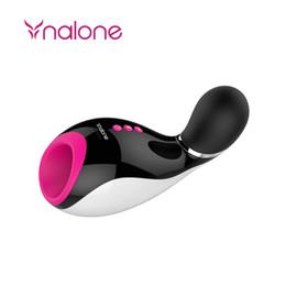 Wholesale Men Vibration Cup - Free DHL Nalone Oral Male Masturbator Oral Sucking Bluetooth Interaction Vibration Electric Masturbation Cup Sex Product Sex Toys for Men