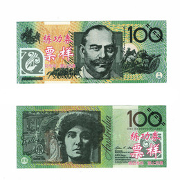 Wholesale Wholesale Christmas Arts Crafts - 100PCS Australian 100 Training Banknotes New Bank Staff Collect Learning 1:1 Banknotes Commemorative Arts Christmas Gifts Home Arts Craft