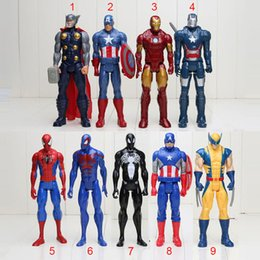 Wholesale Spider Man Series Toy - Free shipping 1piece 30cm the Avengers super Hero Series Marvel Spider-man 30CM PVC Action Figure Movable Model Toy