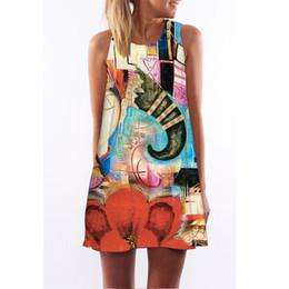 Wholesale Digital Flora - maxi dresses jumpsuits for women summer dresses for women digital printing prom dresses explosion models dress mix order free shipping