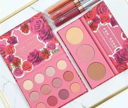2019 теневая помада Новейший набор для макияжа ColourPop Fem Rosa Set 12 цветов Тени для век +3 цветной маркер +3 цветной матовой помады DHL доставка скидка теневая помада