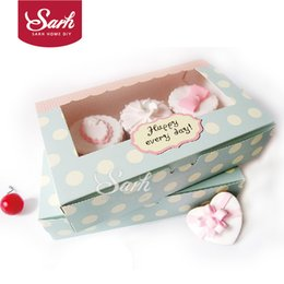 Wholesale Wholesale Muffins - Wholesale-DGH047 Cookie Package the Happy Everyday Spot Macarons Box, Cake box, Chocolate, Muffin Biscuits Box 21.5x13.5x5cm 10pcs lot