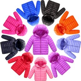 Wholesale Girls Parkas - Baby Kids Clothing Outwear cotton-padded clothes coat GirlS winter Hooded long sleeve Cartoon Girl Thick Parkas Jacket Snowsuit Lolita Style