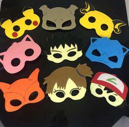 Wholesale Christmas Felt Wholesale - Custom Mask Fancy Halloween And Christmas Etc Festival Supplies Half Face Multi Styles Felt Dacron Mask Superhero Mask