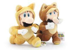 "Wholesale Tanooki Mario Toy - Hot ! 2pcs Lot Super Mario Bros Plush Dolls Running Kitsune Tanooki Mario and Fox Luigi Plush Doll Toy 8"" 20cm"