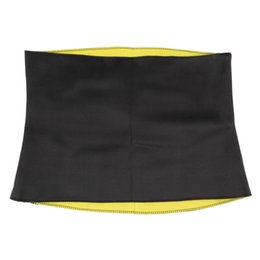 Wholesale Yoga Waist Support - Wholesale- Hot Neoprene Slimming Waist Belts Sports Safety Body Shaper Training Corsets Yoga Fitness Tops free shipping