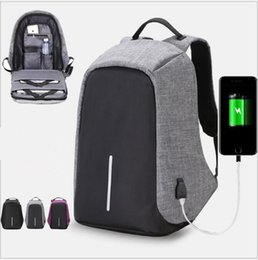Wholesale Womens School Shoulder Bags - Anti-theft Laptop Notebook Backpack With USB Charging Port Oxford Fabric Womens School Travel Shoulder Bag Business Backpacks 20pcs