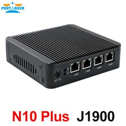 Wholesale Partaker home server mini pc j1900 quad core CPU intel lan firewall vpn router support linux pfsense OS and G G