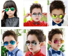Wholesale Kids Girls Sunglasses - Children Girls Boys Sunglasses Kids Beach Supplies UV Protective Eyewear Baby Fashion Sunshades Glasses Free Shipping