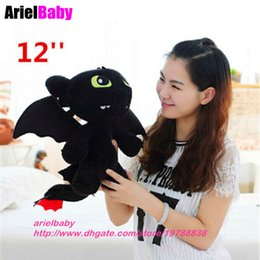 """Wholesale Toothless Soft Toy - How to Train Your Dragon Plush Toothless Night Fury 30cm Soft Toy Baby Dolls 12"""" Peluche Anime Figure Bonecas Brinquedos"""