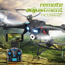 Wholesale Remote Control Toy Large Helicopter - Original JJRC H28 4CH 6-Axis Gyro Large Remote Control Helicopter Rc Drones grande 2.0MP Wifi HD Ajustable Camera RTF