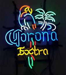 """Bicchieri da birra corona online-Illuminazione da 17 """"x14"""" Corona Extra Birreria Bar Negozio Vero vetro al neon Insegna Sport da parete Display da parete"""