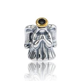 Wholesale Genuine 925 Ale Sterling Silver - Genuine S925 Sterling Silver Beads Divine Angel Charm For European Brand Bracelets 925 ALE L650