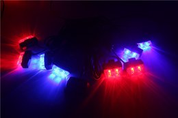 Wholesale Police Super Light - 8 sets LED Unit led warning light Control Super power Strobe flash Car Working light DRL Strobe Police Fireman Caution pilot Lamp
