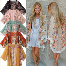 Wholesale Ladies Chiffon Vest - Wholesale- 2016 Hot UK Women Boho Chiffon Cardigan Hippie Kimono Blouse Cape Shawl Jacket Ladies Top