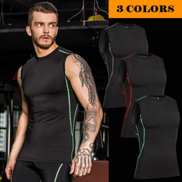 2019 camisas de musculação para homens 2017 Homens Muscle Tank Tops Musculação Compressão Colete Roupas Crossfit Aptidão Dos Homens Undershirt Tanque Tops Camiseta Undershirt camisas de musculação para homens barato