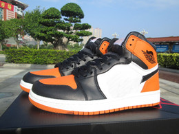 Wholesale High Quality Cow Leather - new RETRO 1 Shattered Backboard mens Basketball Shoes high quality 1s sport shoe sneaker with shoes box