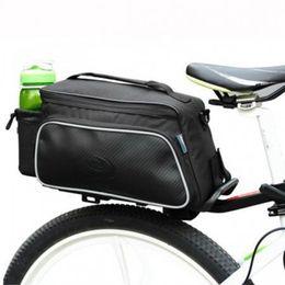 Wholesale Rear Panniers - New Roswheel Practical Bicycle Trunk rear bike panniers Carrier Bag Pack Impact Resistance and Tear-resistant Black +B