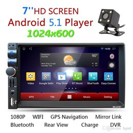 Wholesale Car Navigation 2din - 7 Inch Android 5.1 2Din Bluetooth Car Radio Stereo Player Digital Touch Screen GPS Navigation + Night Vision Rear View Camera CMO_21P