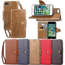 Wholesale Iphone Folding Cases - Premium PU Leather Flip Fold Wallet Case with [ID&Credit Card Slot] for Apple iPhone 5 5s 6 6s 7 Plus