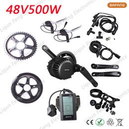 Wholesale Bicycle Conversion Kits 48v - Electric Bike Motor Conversion Kit BBS02 48V 500W 8fun bafang hub Motor Bicycle Wheel for Bikes Octopus Neutral Electric Wheel