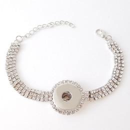 Wholesale Crystal Rhinestone Sliders - Noosa chunk bracelet full rhinestone paved snap button bracelet crystal snap bracelet