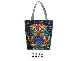 Wholesale travelling notebook - New Design Vintage Big Tote Travel Shoulder Bags Handbag Over Her Shoulder Cat Printed Shopping Bag For Student Notebook Bag