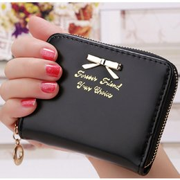 Wholesale Gold Card Korea - Wholesale- Korea Fashion 2017 New arrival high quality faux leather women wallets multi-cards position short hasp purse female XF212