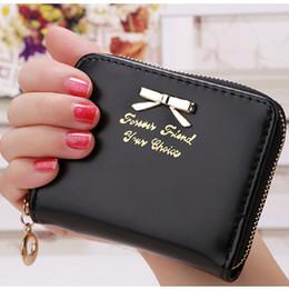 Wholesale Korea Gold Coin - Wholesale- Korea Fashion 2017 New arrival high quality faux leather women wallets multi-cards position short hasp purse female XF212