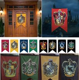 2019 bandeiras da faculdade Novo Partido Suprimentos Gryffindor Bandeira Hogwarts Partido da faculdade Bandeira 75x125 cm casa decoração da parede Bandeira Bandeiras A0691 desconto bandeiras da faculdade