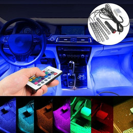 Wholesale LED Interior Underdash Lighting Kit Piece Color Bluetooth Controller for Phone