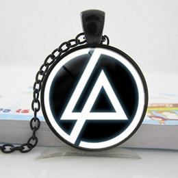 Linkin park pendant en Ligne-2017 Nouvelle Mode Linkin Park logo Pendentif Linkin Park Bijoux Collier En Verre Dôme Pendentif