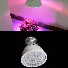 Wholesale Grow Light 2w Led - LED Growing Bulbs Lamp E27 2W 38 LED Plant Spot Light Growth Lighting Par Lights Garden Indoor Hydroponic Lamp 50pcs