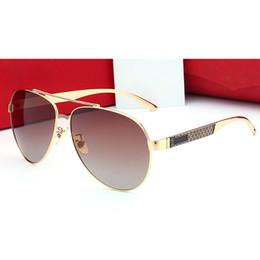Wholesale Sunglasses Lenses Colors - 2017 Driving sunglasses men luxury brand designer points sun UV400 polarized sunglasses oval metal frame for men with box 5 colors