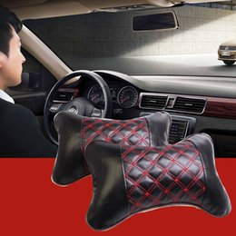 Wholesale Micro Pillow - RUNDONG TP-0107 Car-Styling Car Cotton Pillows Universal Bone Style Car Auto Vehicle Micro Fiber PU Soft Headrest Pillow