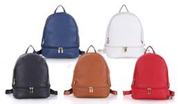 Wholesale Leather Laptop Bag Travels - M 2017 Luxury brand women bag School Bags pu leather Fashion Famous designers backpack women travel bag backpacks laptop bag