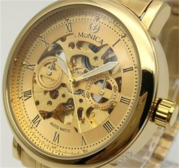 Wholesale Online Tags - Automatic Mechanical Watch Men's Stainless Steel Gold Hollow Watch Guangzhou China Luxury Brand Factory Direct Online Cheap Watch
