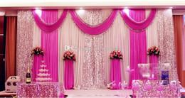 Wholesale Cheap Wedding Curtains - High Quality Wedding Backdrop Curtain Sequined Cheap Wedding Decorations 6m*3m Cloth Background Scene Wedding Decor Supplies