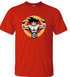 Wholesale Japanese Style T Shirt Men - Japanese Anime Dragon Ball Z Goku Printed Men T Shirt 2017 Summer Hot Sale T-Shirts 100% Cotton Harajuku Style Camisetas Hombre