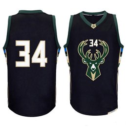 Wholesale Embroidery Logo - men new 34# Giannis Antetokounmpo jersey #12 Jabari Parker basketball jerseys High quality embroidery logos fast free shipping
