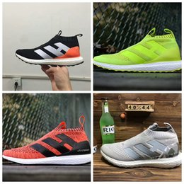 Wholesale Ace Boxes - 2017 With Box Men and Women ACE 16+ Pure Control Ultra Boost Flamingos Ultra Boost Triple White BY1600 Running Shoes Boost Sneakers Boosts