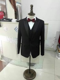 Wholesale Tailoring China - Black Real Photos Men suits V-Neck long sleeves Men Tailor Suruimei Factory in China
