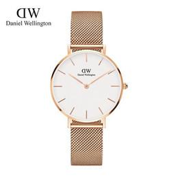 Wholesale Thin Bracelets Crystal - 2017 New Daniel watches Women 32mm Luxury Brand Famous Watch aaa Ultra-thin fashion watch bracelet womens dress wrist watch orologi donna