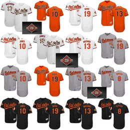 Wholesale Baseball Jersey Baltimore - 13 Manny Machado Jersey Baltimore Orioles 10 Adam Jones 8 Cal Ripken 19 Chris Davis Baseball Jerseys 2017 Commemorative 25th Patch