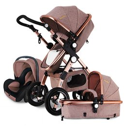 Wholesale Travel Chairs Children - Hot sell European Baby Stroller 3 in 1,Baby Push chair High Landscape Fold Strollers for Children Travel System,Prams for Newborns