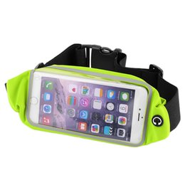 Wholesale Money Belts For Cycling - Wholesale- Waterproof Travel Sports Running Waist Belt Money Wallet Pouch Pack Touchable Jogging Pouch Cycling Bag For iPhone 6 Plus 5.5