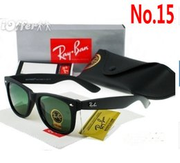 Wholesale Plastic Aviator Glasses - Hot Sale Aviator Sunglasses RAY Vintage Pilot Brand Sun Glasses Band UV400 Bans Men Women Ben Mirror 50mm Glass Lenses With Cases